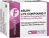 Aslan Life Compound F, Vitamin-Komplex für Frauen, Mehr Energie/Leistungskraft, Stärkung Nerven/Immunsystem, Multivitamin, Selen, 60 Kapseln