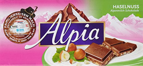 Alpia Schokolade Haselnuss, 20er Pack (20 x 100 g)