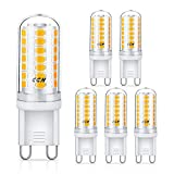 CGN G9 LED Lampen, Kein Flackern, 4W LED statt 40W Halogenlampen, 450LM Warmweiß Lampe, G9 LED Birne Leuchtmittel Glühbirnen, Energiesparlampe Nicht Dimmbar AC 220-240V, 5er Pack