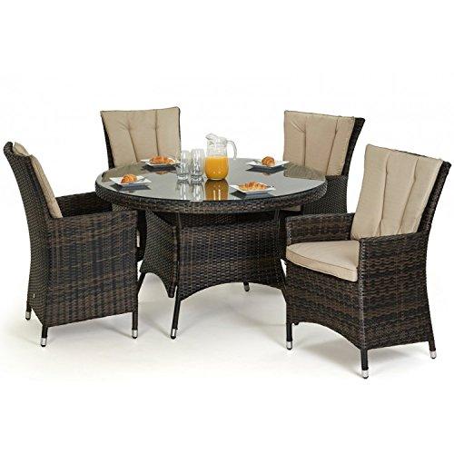 san diego rattan garden furniture 4 seater round table set garden rattan furniture