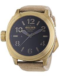 Welder 9100 - Reloj de cuarzo unisex, correa de cuero color beige