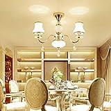 CUICAN Europäische Crystal Glas klar Kronleuchter,Simple Moderner Kerze Deckenlampe Für wohnzimmer Esszimmer Schlafzimmer Studie Hotel Gang-3 Köpfe 70x50cm(28x20inch)