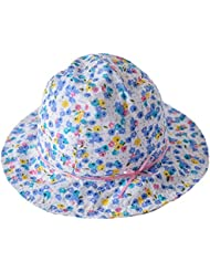 toyobuy algodón de verano para bebé con lazo en forma de flor suave sol cubo gorro de cielo azul