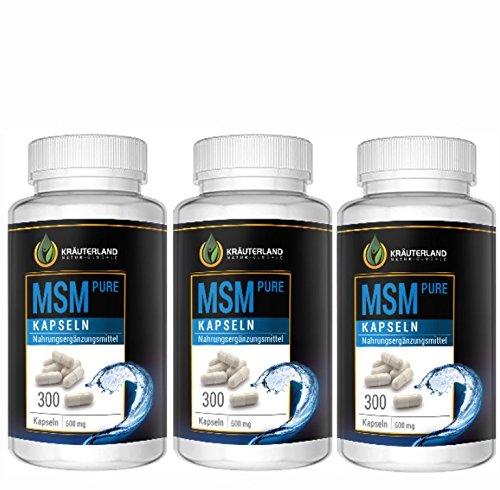 MSM Kapseln • 99,95% hochreines MSM • ab 7,90 • 900 Kapseln à 500mg MSM • hochdosiert • in wiederverschließbaren Frische-Dosen • sofortiger Versand (900 Kapseln)