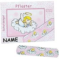 Unbekannt 10 Kinderpflaster im Nachfüllpack mit Schutzengel - Motiv in rosa incl. Namen - Pflaster für Kinder... preisvergleich bei billige-tabletten.eu