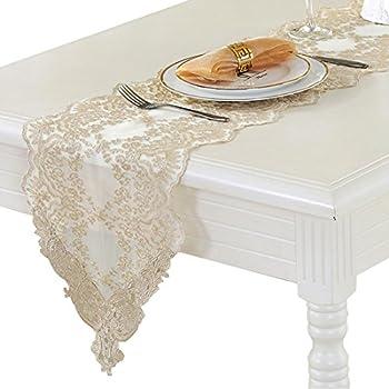 Ethomes Chemin de Table Orn/é de Dentelle D/écoration pour Maison Mariage 30 x 180cm