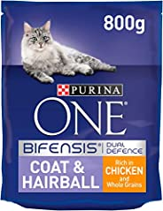 Purina One Coat & Hairball Cat Chicken& Whole Grains