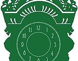 Wandtattoo Uhr No.AC39 Standuhr Zeit Zahlen Punkt Uhr Alt, Farbe:Kupfer;Größe:280cm x 79cm;Wanduhrfarbe:Schwarz