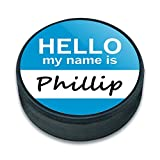EISHOCKEY Puck Hello My Name Is pa-pu, Phillip Hello My Name Is