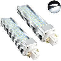 Bonlux 2-Pack luce GX24 ruotabile LED lampadina 13W bianco freddo 6000K 180 gradi 26W CFL / fluorescenti compatte GX24Q sostituzione / G24q 4 pin LED PL Retrofit lampada (Rimuovere / bypass del Ballast)