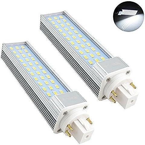 Bonlux 2-Pack GX24 rotativo de luz LED 13W bulbo blanco fresco 6000K 180 grados 26W CFL / fluorescente compacta GX24q Reemplazo / G24Q 4-Pin LED PL de reequipamiento de la lámpara (Eliminar / de derivación del lastre)