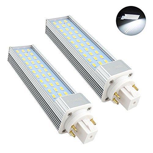 Bonlux 2-Pack GX24 Drehbare LED Glühbirne 13W Cool White 6000K 180 Grad 26W CFL / Compact Fluorescent Ersatz GX24Q / G24Q 4-Pin LED PL Retrofit-Lampe (Entfernen / Bypass der Ballast) (Cool White Led-chip)
