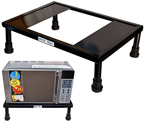 Plantex Heavy Gi Metal Universal Microwave Oven Fix Stand for Kitchen Platform - Floor (Up to 30L)