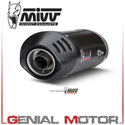 New UH.019.LEC Auspuff exhaust MIVV Oval Carbon Mit Carbon endkappe Cbr 600 Rr 2003 03