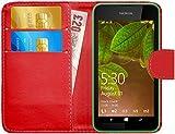 GizzmoHeaven Nokia Lumia 530 Leder Hülle Schutzhülle