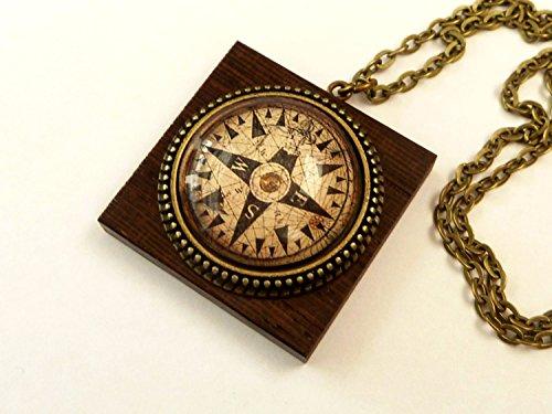 Kompass Halskette, Männerschmuck, maritime Halskette