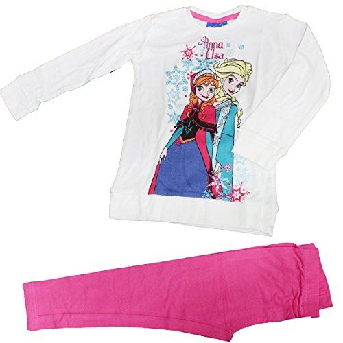 Russo tessuti pigiama bimba tuta bambina disney frozen varie misure cotone 100%-4 anni