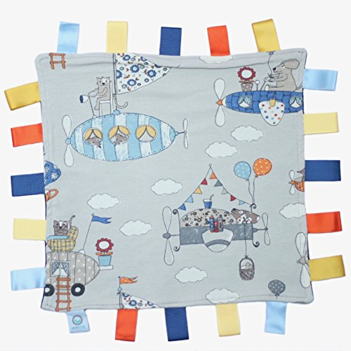 amawrap handgefertigt Jersey Baumwolle Tröster Rosa Decke–Flugzeug Luftballons (Tröster Baumwoll-jersey)