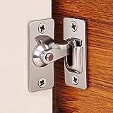 Cerradura de la puerta de cambio de puerta de 90 grados, botón de bloqueo de