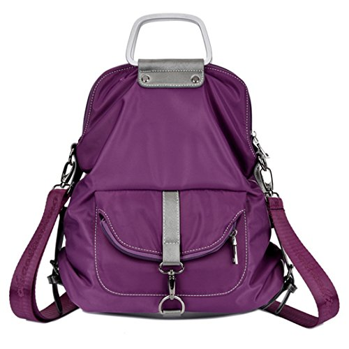 Wewod 1566, Borsa a zainetto donna blu 11.81(Length)*3.94(Width)*13.78(Height) inches viola