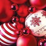 20 Servietten Christmas- Weihnachts Servietten -' Red Baubles '