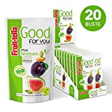 Fruittella Good For You Mix Benessere Bio, Snack di Semi, Frutta Secca e Disidratata biologico, Fonte di Magnesio - 20 Pacchetti Monodose da 35 gr