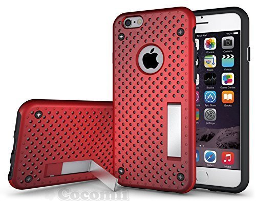 iPhone 6S Plus / iPhone 6 Plus Funda, Cocomii Cool Armor NEW [Heavy Duty] Premium Tactical Grip Kickstand Shockproof Hard Bumper Shell [Military Defender] Full Body Dual Layer Rugged Cover Case Carcasa Apple (Red)