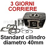 Unbranded 50 CC Cilindro Gruppo Termico PISTONE Set Kit per Yamaha DT 50 ST 50 MXR 50 Aria