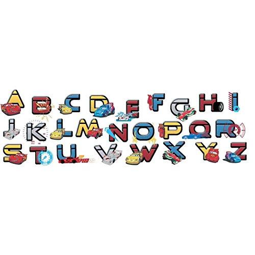Stickers Alphabet Cars 18,5cm x 37cm (Disney)