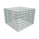 vidaXL Composteur de jardin carré en maille 100 x 100 x 70 cm conteneur métallique