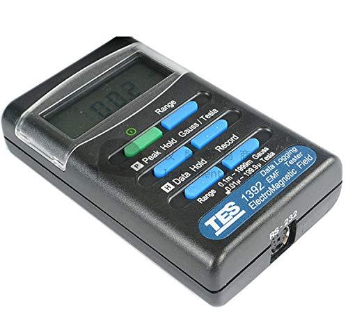 EMF TES1392 Elektromagnetisches Feldmessgerät Gauss 200/2000 Milli-Gauss RS-232/Software 3 1/2 Ziffern LCD-Display einachsig Rs 232-lcd-display