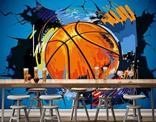 Preisvergleich Produktbild WH-PORP Benutzerdefinierte 3D Tapete Basketball Wände Europa und die Vereinigten Staaten Wind 3D Tv Hintergrund Wohnzimmer Zimmer Wandbild 3D Tapete-300cmX210cm