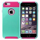 MPG iPhone 6 6S Hülle Panzer, Hardcase Handyhülle, Anti Shock Schutzhülle, Handy Hard Case für Apple iPhone 6 6S, Türkis Pink