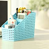 OnMall Remote Holder Stand, Pen Stand For Study Table, Multipurpose Storage Boxes Plastic Storage Box. (Multicolor 1 Pc)