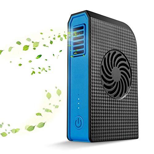 XIANGWANG Kleiner Handventilator Kleiner persönlicher Ventilator mit 6000-mAh-Powerbank-Mini-USB-Handschreibtischventilator mit tragbarem Ladegerät - Best in Travel School Office, blau
