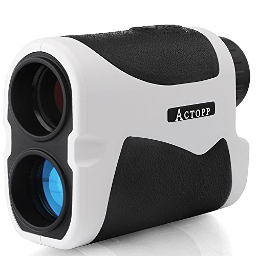 ACTOPP Golf Entfernungsmesser Lasermessgerät 500m Golf Rangefinder Entfernungsmesser mit Höhe Winkel horizontale Messen für Jagd Fischen Motorsport Engineering Survey