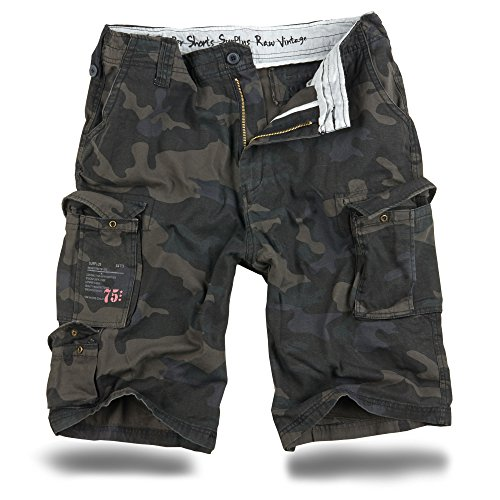 Trooper Shorts Lightning Edition Blackcamo - 6XL