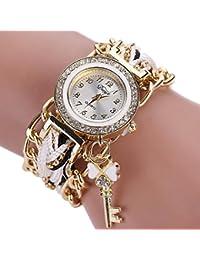 Reloj para mujeres,Vovotrade Trenzadas Rhinestone de la venda de cuarzo relojes de pulsera (F)