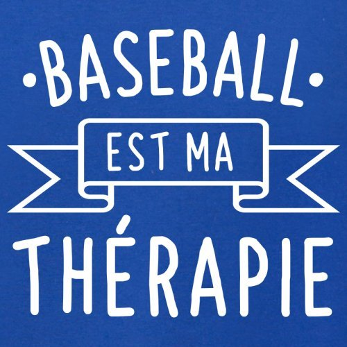 Le Baseball est ma thérapie - Femme T-Shirt - 14 couleur Bleu Royal