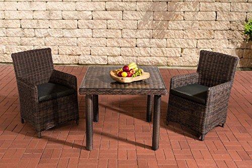 Gartenmöbel, Gartenmöbel-Set, Sitzgruppe Dorado K100, anthrazit / braun-meliert, Polyrattan-Aluminium-Gestell, Gartengarnitur, Sitzgarnitur