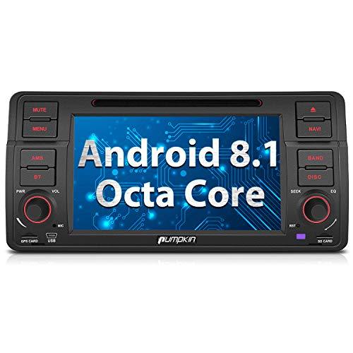 Pumpkin Autoradio Android 8.0 GPS Navegador para BMW E46 Series soporta Bluetooth...