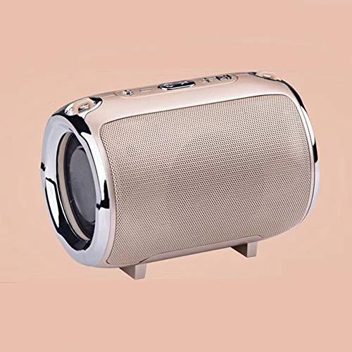 Y-SOUND Kabelloser Bluetooth-Lautsprecher, Tragbarer Schultergurt-Subwoofer Der TWS-Serie, TF-Karte, Tragbarer Mini-Lautsprecher, Line-In-Audio-Eingangsfunktion,Pink
