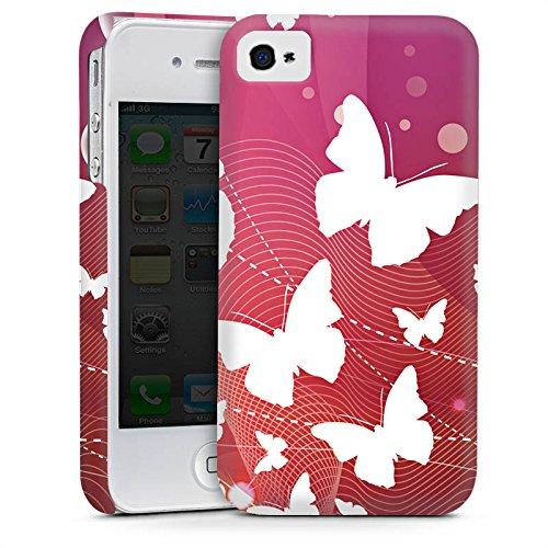 Apple iPhone 5 Housse Étui Silicone Coque Protection Papillons couleurs Ornement Cas Premium mat