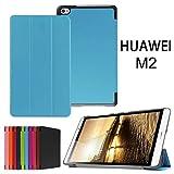 Huawei MediaPad M2 8.0 Case,Xindayi Ultra Slim Tri-Fold Leather Case Stand Cover for 8' Huawei MediaPad M2 Tablet PC (M2 8.0 Tri-Fold, light blue)
