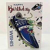 Jonny Javelin Happy Birthday Wishes Card - Football Boot