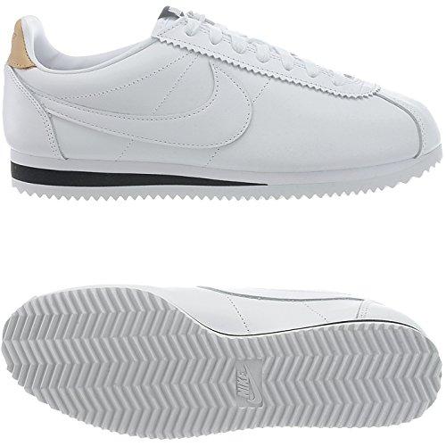Nike Classic Cortez Leather Se, Scarpe da Fitness Unisex – Adulto Bianco (Bianco)