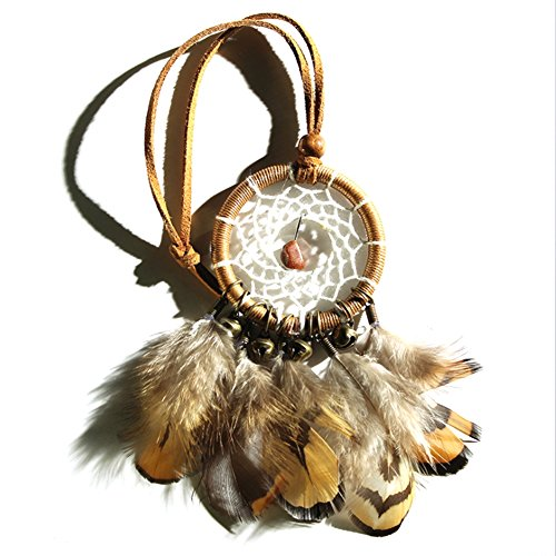 Moresave Native Indianer Traumfänger Klein Glocken und Federn Wandbehang Auto Dream Catcher (Dream Catcher Auto,)