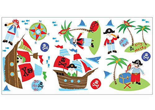 Price comparison product image Fun4Walls Pirates Wall Stickers