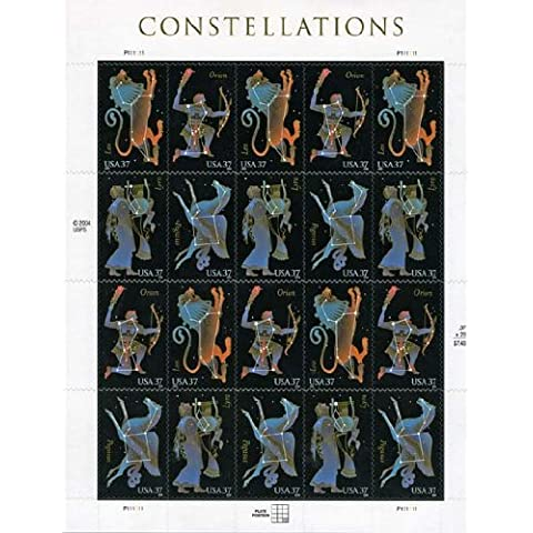 Constellations 20 x 37 Cent U.S. Postage Stamps 2004 by USPS
