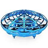 ILYO Drone Mit Einer Kamera Fliegende Spielzeuge Empfohlen Drohne Für Anfänger Drohnen Mit Bunten Lichtern, Fühlen Induktiven Flug,Blue